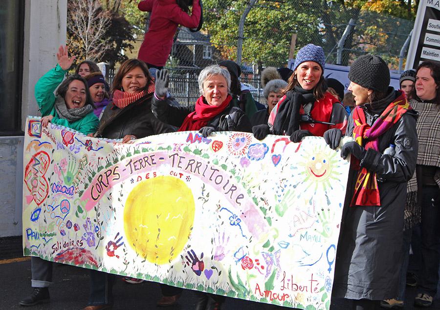 Marche mondiale des femmes en Mauricie